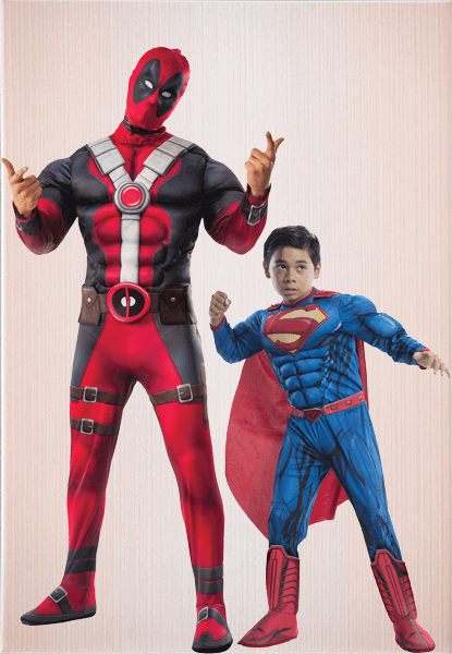 Deadpool Kids Costume & Superman Kids Costume