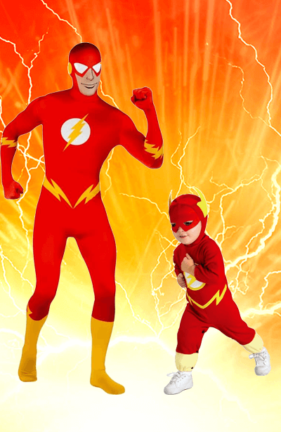 Flash Outfit and Boys Flash Costume