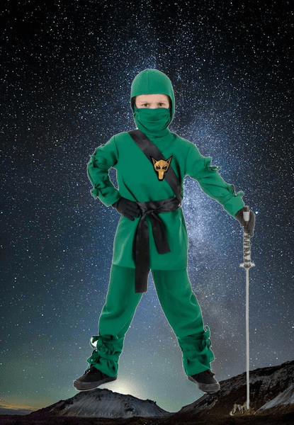 Green Ninja Costume & Ninja Costumes For Kids and Adults - 62 items | SkeletonCostumes.us