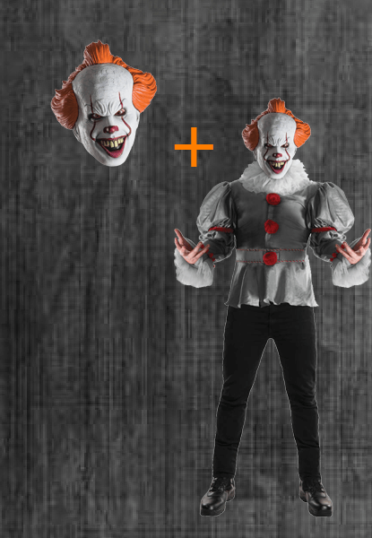 IT movie clown costume and Pennywise Mask