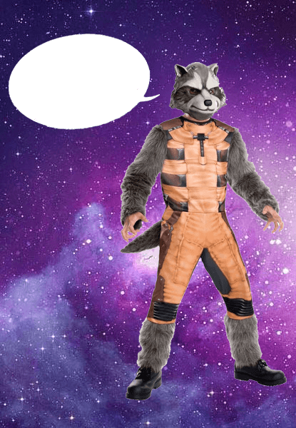 Raccoon from Guardians of the Galaxy costume