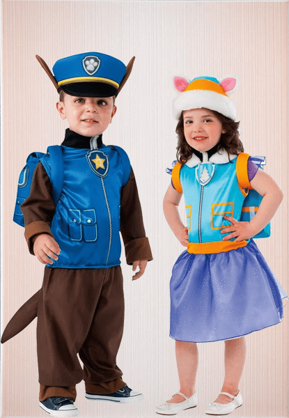 Chase Paw Patrol Costume & Everest Costume