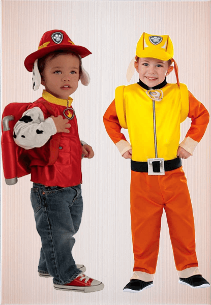 Marshall Paw Patrol Costume & Paw patrol Rubble Costume