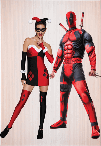 Harley Quinn Adult Costume & Deadpool Movie Costume