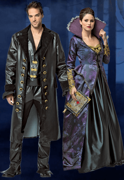 Once Upon a Time Hook Costume & Evil Queen Once Upon a Time Costume