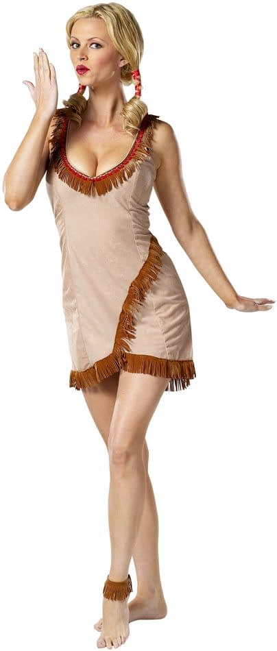 Pocahontas Red Indian Princess Costume Ladies Party Dress  PLUS 8 10 12 14 16 18