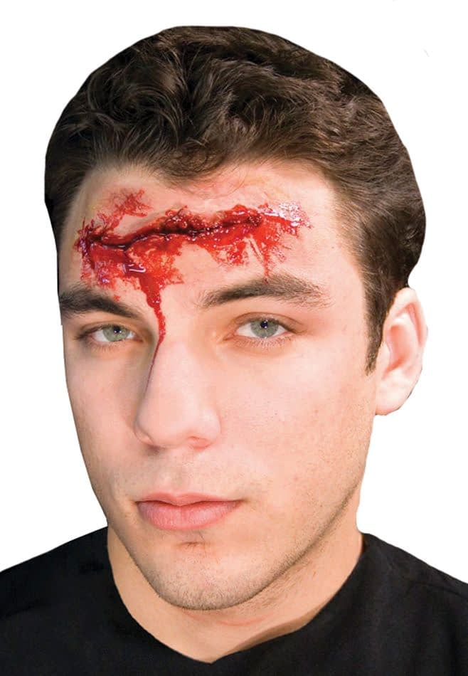Как сделать шрам на лице в домашних 395