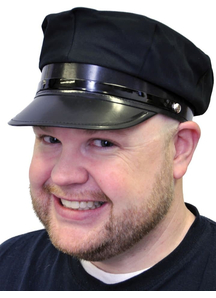 Chauffeur Hat Economy Black For Adults