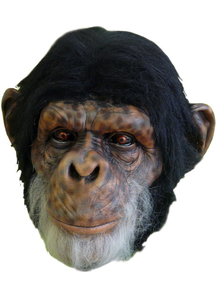 Chimp Latex Mask For Adults