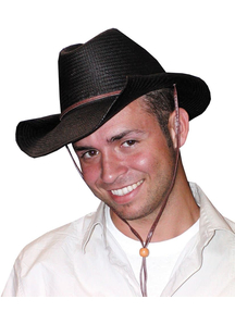 Cowboy Hat Rolled Black For All