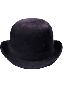 Derby Hat Black Felt Large For All