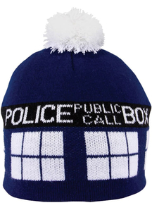 Doctor Who Tardis Pom Beanie For All