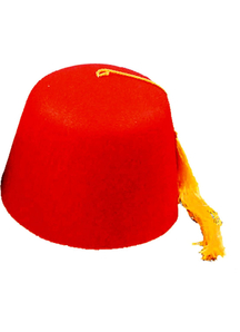 Fez Felt Red 1 Sz For All