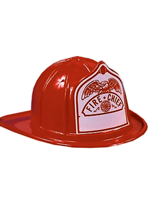 Fire Fighter Helmet Red For All