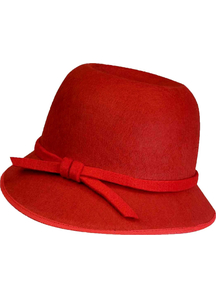Flapper Hat Red For Adults