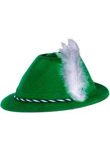 Green Velour Tyrolean 6 Hats For All