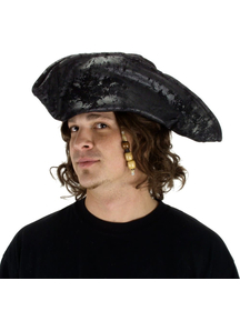 Hat Old Pirate Black For Adults