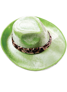 Hat Pimp Lime Green For Adults