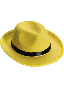 Hat Yellow Fedorafor Adults