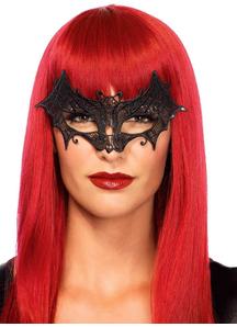 Mask Vampire Bat Venetian Blk For Adults