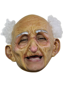 Oldman Dlx Chinless Latex Mask For Adults