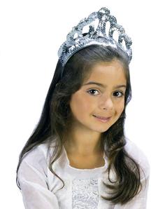 Tiara Sparkling Slvr Sequin For Children