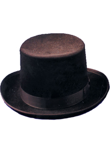 Top Hat Felt Qual Brown Med For All