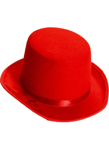 Top Hat For Adults Red
