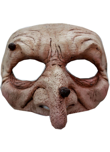 Wart Wizard Latex Half Mask For Adults