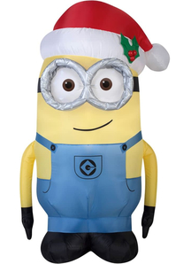 Airblown- Minion With Santa Hat