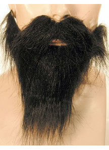 Beard Mustache Set Black