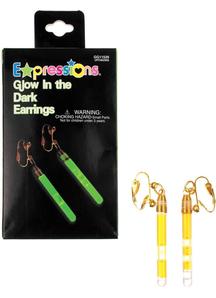 Green Earrings Glow In Dark