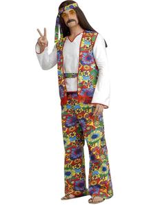 Hippie Man Plus Adult Costume