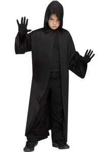 Hooded Robe Black Child