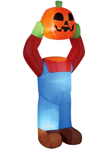 Inflatable Headless Pumpkin 4 Ft
