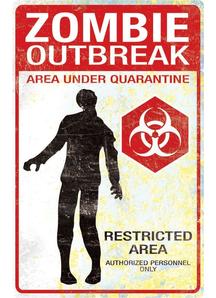 Metal Sigh Zombie Outbreak