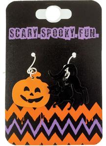 Pumplin /Cat Earrings Set