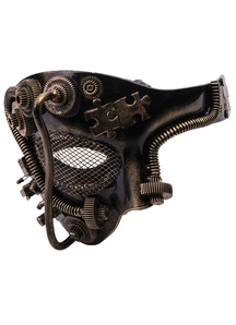 Steampunk Gold Mask For Adults