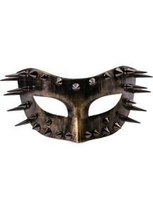 Steampunk Spiked Gold Mask