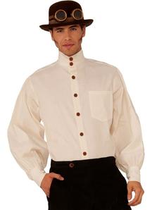 Steampunk Style Beige Shirt