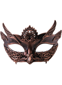Steampunk Style Bronze Female Mask