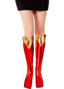 Supergirl Adult Boot Tops