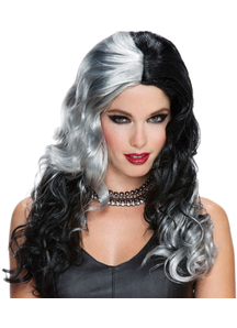 Wicked Witch Wig Grey Black