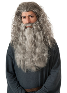 Wig And Beard For Gandalf Costume