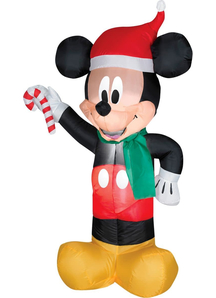 Airblown Mickey Santa With Candy
