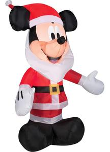 Airblown Mickey With Santa Beard