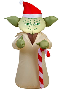 Airblown Yoda With Cane