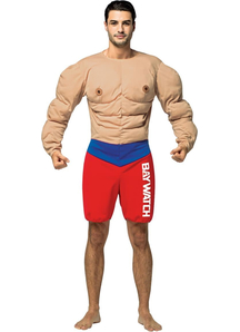 Baywatch Male Lifeguard Muscles Suit