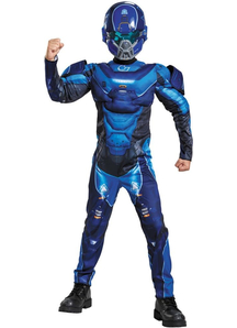 Blue Spartan Halo Costume For Children