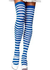 Blue/White Striped Stockings